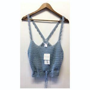 Say What Crochet | NWT Blue Crochet Tank Top